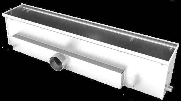 Встроенные в пол конвекторы отопления корпус