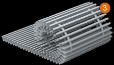 Декоративная решетка отопительного конвектора
